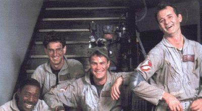 Ghostbusters 2 mit Bill Murray, Dan Aykroyd, Sigourney Weaver und Harold Ramis