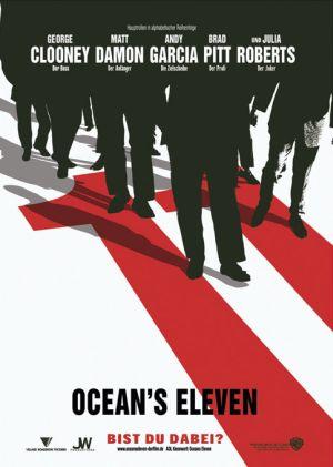 Ocean's Eleven mit George Clooney, Brad Pitt, Matt Damon, Andy Garcia und Julia Roberts