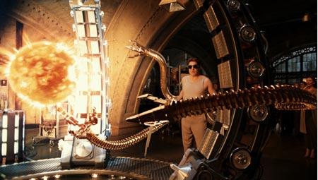 Spider-Man 2 mit Tobey Maguire, Kisten Dunst und Alfred Molina