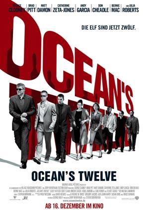 Ocean's Twelve mit George Clooney, Brad Pitt, Julia Roberts und Catherine Zeta-Jones
