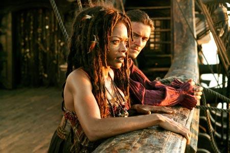 Fluch der Karibik 3 mit Johnny Depp, Orlando Bloom und Keira Knightley.