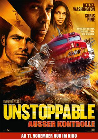 Unstoppable - Außer Kontrolle (von Ridley Scott mit Chris Pine und Denzel Washington)