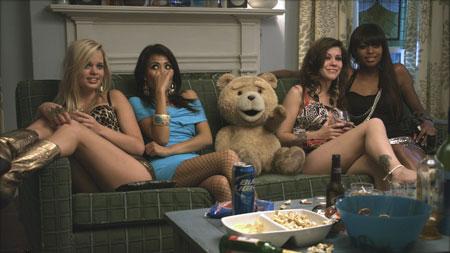 Ted (mit Mark Wahlberg und Mila Kunis)