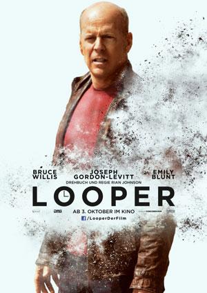 Looper (mit Joseph Gordon-Levitt, Bruce Willis und Emily Blunt)