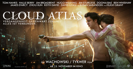 Cloud Atlas (mit Tom Hanks, Halle Berry, Ben Wishaw, Doona Bae und Jim Broadbent)
