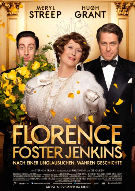 Florence Foster Jenkins (mit Meryl Streep, Hugh Grant und Simon Helberg)