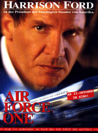 Air Force One (mit Harrison Ford & Glenn Close)