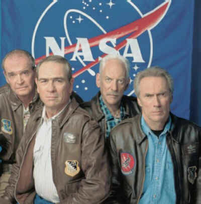 Space Cowboys (mit Clint Easwood, Tommy Lee Jones, James Garner und Donald Sutherland)