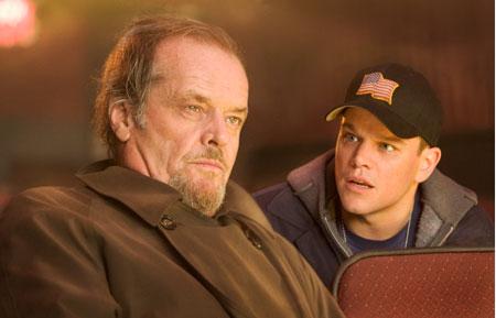 Jack Nicholson und Matt Damon in The Departed