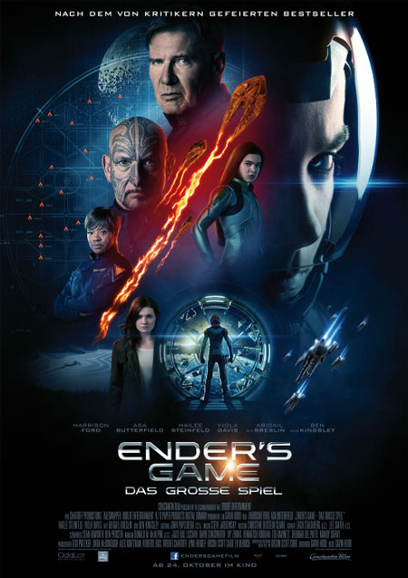 Ender's Game (mit Harrison Ford, Ben Kingsley und Asa Butterfield)