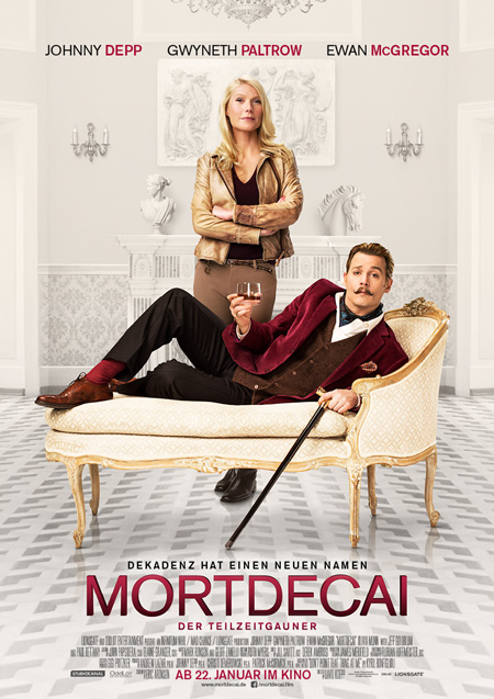 Mortdecai (mit Johnny Depp, Gwyneth Paltrow und Paul Bettany)