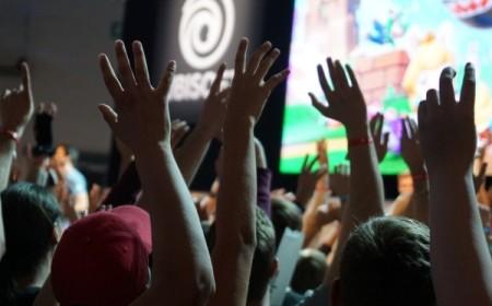Hände auf der Gamescom