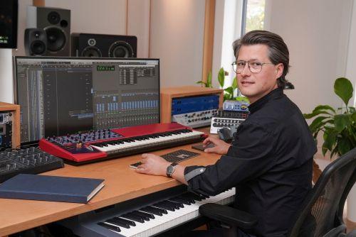 Frank Schreiber in seinem Studio